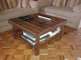 Simple Coffee Table by Furniture Simple Square Brown Wooden Coffee Table With Shelves