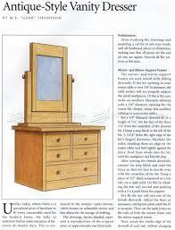 Vanity Dresser Vanity Dresser Plans U2022 Woodarchivist