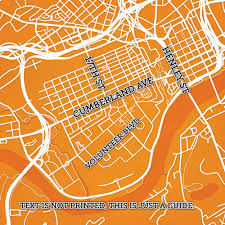 Neyland Stadium Map University Of Tennessee Campus Map Art City Prints