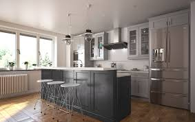 society shaker steel gray pre assembled kitchen cabinets the rta