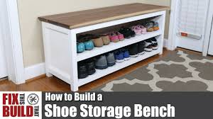 Plans To Build A Storage Bench by Diy Shoe Storage Bench How To Build Youtube