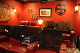 Home Movie Theater Wall Decor Home Theater Room Decorating Ideas The Polkadot Chair