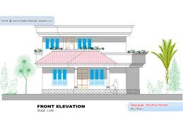 kerala home plan and elevation 1300 sq feet house plans