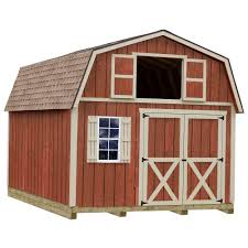 barns sheds garages outdoor storage the home depot millcreek 12 ft x 20 ft wood storage shed kit with floor including 4