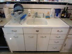 Retro Metal Kitchen Cabinets by Vintage Retro Metal Kitchen Cabinet Cast Iron Sink Ebay Tinny