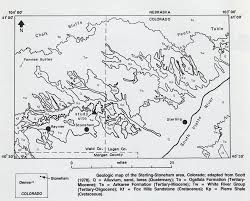 Colorado Unit Map by The Stoneham Barite Locality Stoneham Colorado U2013 The Collector U0027s