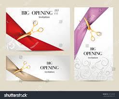Sport Invitation Card Set Big Opening Invitation Cards Ribbons Stock Vector 241547875