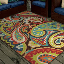 Multi Colored Bathroom Rugs Orian Rugs Paisley Monteray Multi Colored Area Rug Walmart Com