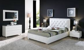 Stunning Modern White Bedroom Sets Vero Modern White Tufted - White tufted leather bedroom set