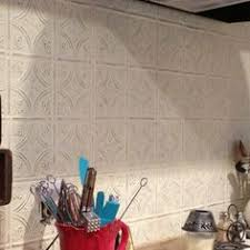 NUW Vintage Tin Tile Peel And Stick Wallpaper By - White tin backsplash