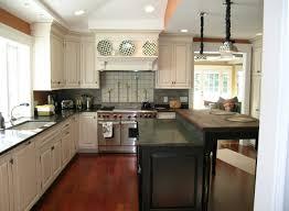Painted Kitchen Floor Ideas Kitchen Dark Floor Light Cabinets Nice Home Design