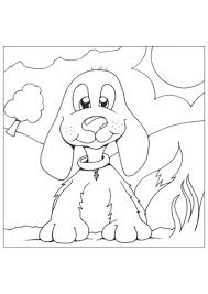 cute puppy coloring sheets for kids coloring pages