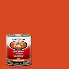 Auto Body Job Description Rust Oleum Automotive 1 Qt Auto Body Hugger Orange Paint Case Of
