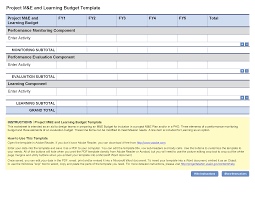 Sample Home Budget Spreadsheet Project Mel And Learning Budget Template Project Starter U2014 Usaid