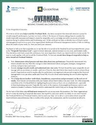 charity motivational letter the overhead myth moving toward an overhead solution letter to the nonprofits of america