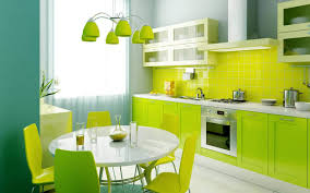 modern kitchen in green color inspirations beautiful green