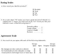 Example of Question Types Survey System