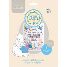 peter rabbit mini cross stitch nursery sampler hobbycraft