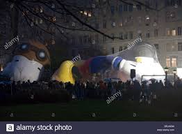thanksgiving parade balloons thanksgiving parade balloons being inflated in nyc stock photo