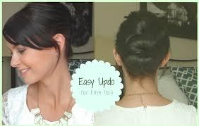 easy updo for fine hair youtube