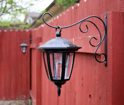 Solar Fence Lighting by Running With Scissors Patio Lantern Fixtures