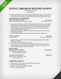 On Campus Job Resume by Librarian Resume Sample U0026 Writing Guide Rg