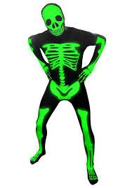 Kids Skeleton Halloween Costume by Mens Glow Skeleton Morphsuit