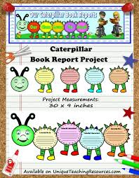 Caterpillar Book Report Projects Unique Teaching Resources