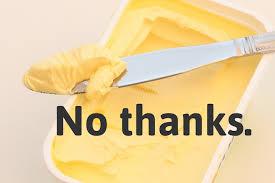 Anbefaling om å bruke margarin istedet for smør