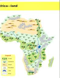 Physical Map Africa by Social Studies Ancient Civilizations Pacific Spirit Pod