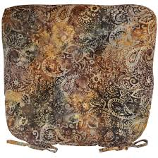 chair cushions brown and black paisley batik tie dining chair