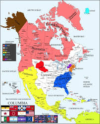 N America Map by Columbia Alternate History North America Map By Canadakid97 On