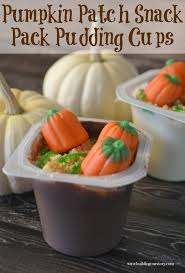 pumpkin patch pudding cups building our story