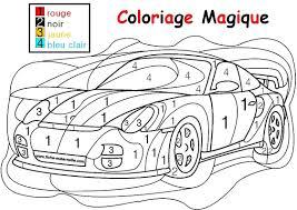 coloriage magique pour les plus petits une auto