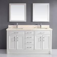 studio bathe calais 63 inch white double bathroom vanity beige
