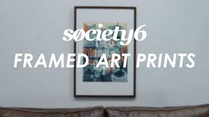 framed art prints from society6 product video youtube