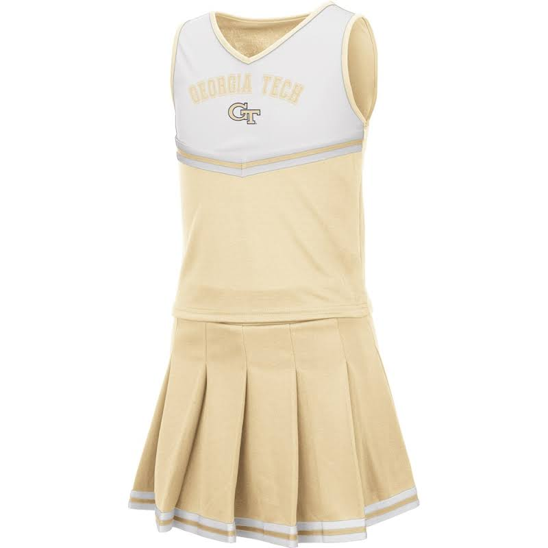 Georgia Tech Yellow Jackets Youth Girls Colosseum Pinky Cheer Dress Set