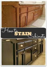 Kitchen Cabinets Stain Staining Oak Cabinets An Espresso Color Diy Tutorial Espresso