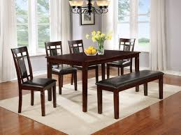 Dining Room Chairs Houston 5pc Dinette With Bonus Free Bench Upholstered Top Bench Bel