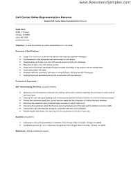 sample call center sales representative resume for objective  Resumes  Esay  and Example Templates