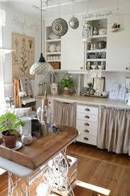 pinky look of shabby chic kitchen design idea shabby chic