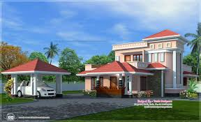 house exterior with separate car porch home design 3d