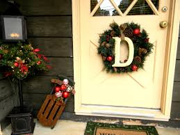 holiday decorating ideas for the front door porch christmas potted