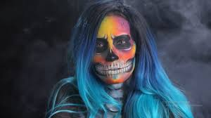 Indian Halloween Makeup Halloween Hat Makeup Tutorial Skull Makeup With Neon
