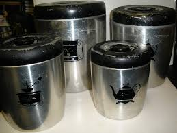 100 black kitchen canister set amazon com 4 piece d礬cor