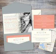 folded invitation pocket invitations jeneze designs