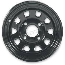 itp front rear black delta 12x7 steel wheel 1225544014 atv u0026 utv