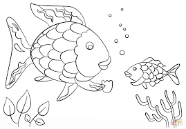 interesting ideas rainbow fish coloring page rainbow fish gives a
