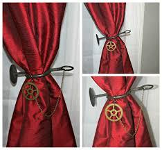 diy steampunk curtain ties bohemianromance