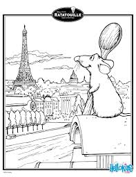 ratatouille u0027s remy in paris coloring page activities coloring